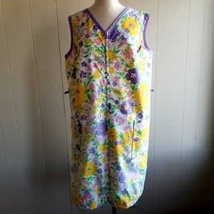 1960s Komar Floral, Cotton Blend, Housedress